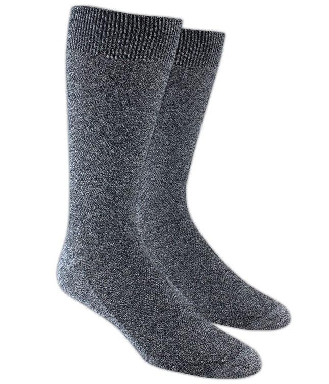 Solid Texture Grey Dress Socks