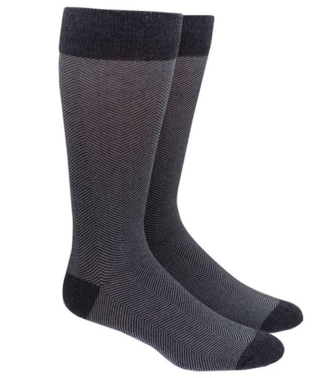 Herringbone Grey Dress Socks