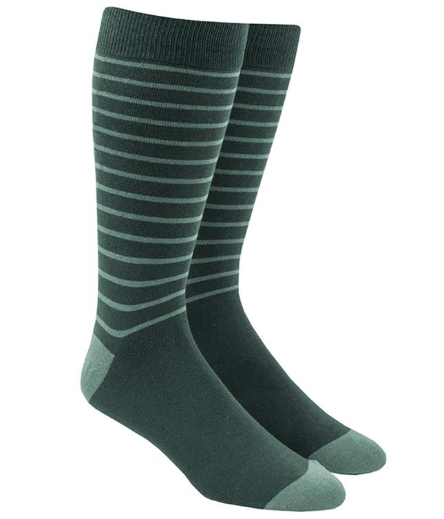 Woodland Stripe Greens Dress Socks