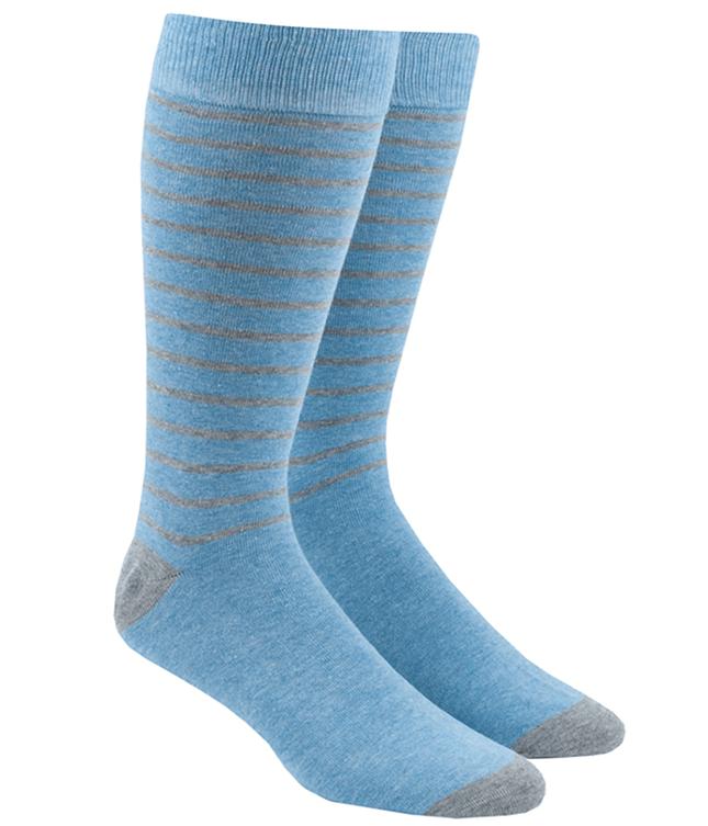 Woodland Stripe Khaki Dress Socks