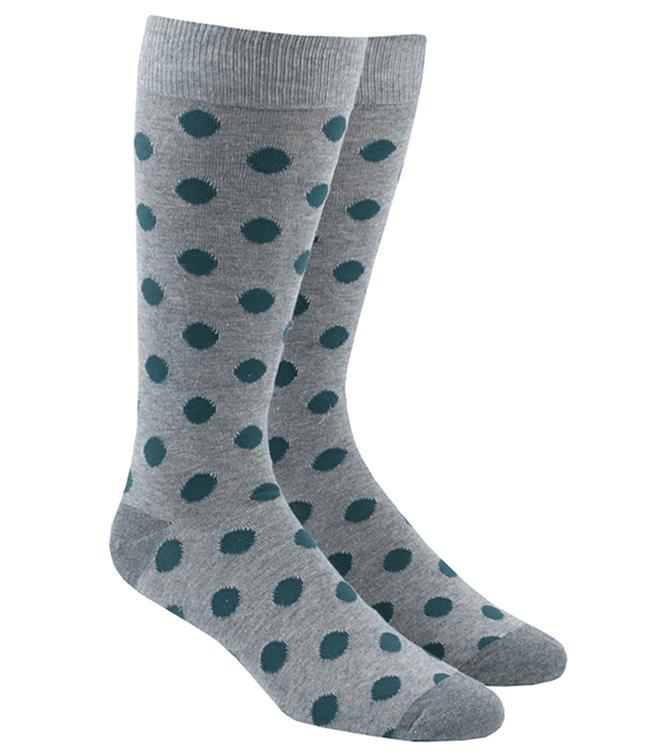 Common Dots Grey Dress Socks
