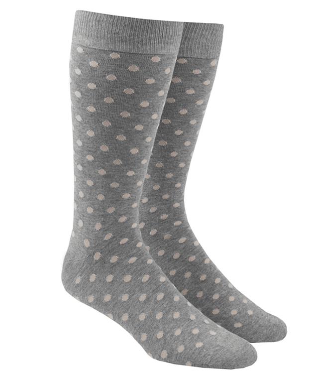 Circuit Dots Khaki Dress Socks
