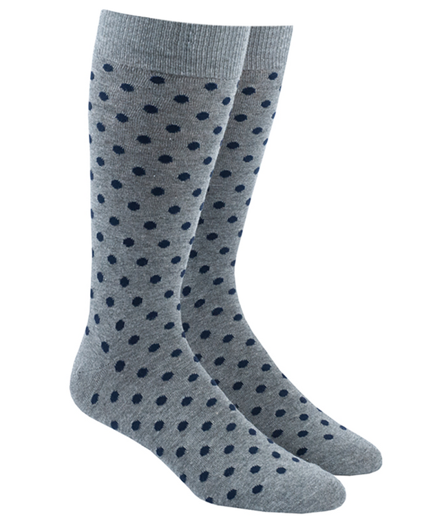 Circuit Dots Navy Dress Socks