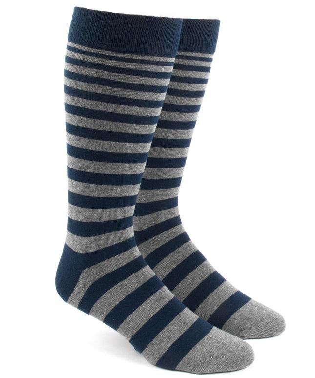 Ombre Stripe Navy Dress Socks
