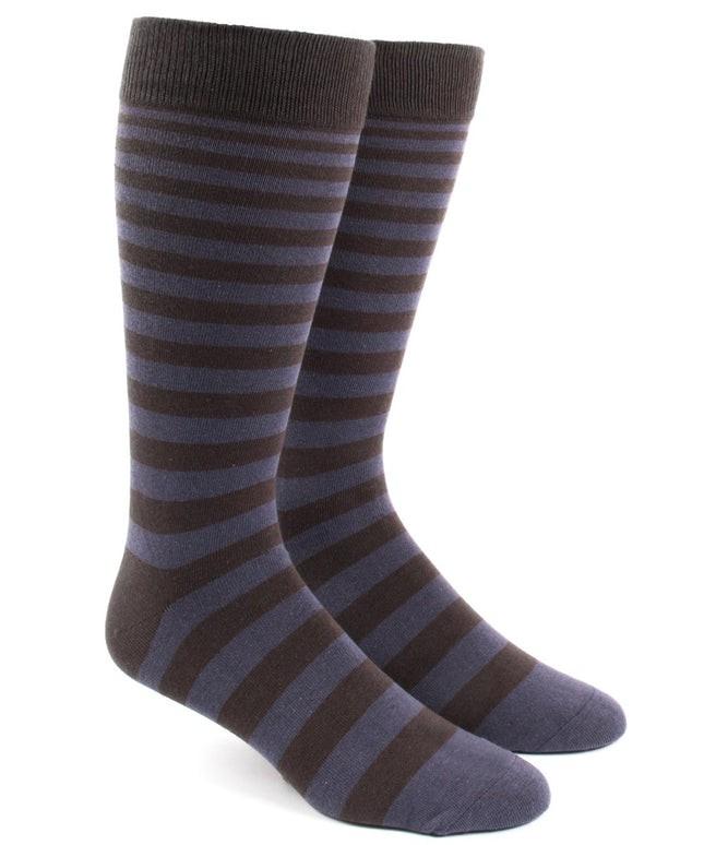 Ombre Stripe Purple Dress Socks
