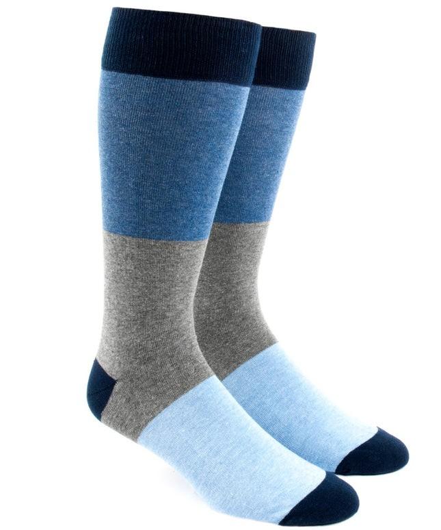 Colorblock Blues Dress Socks