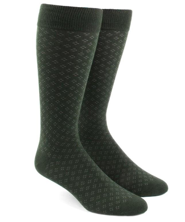 Speckled Hunter Green Dress Socks