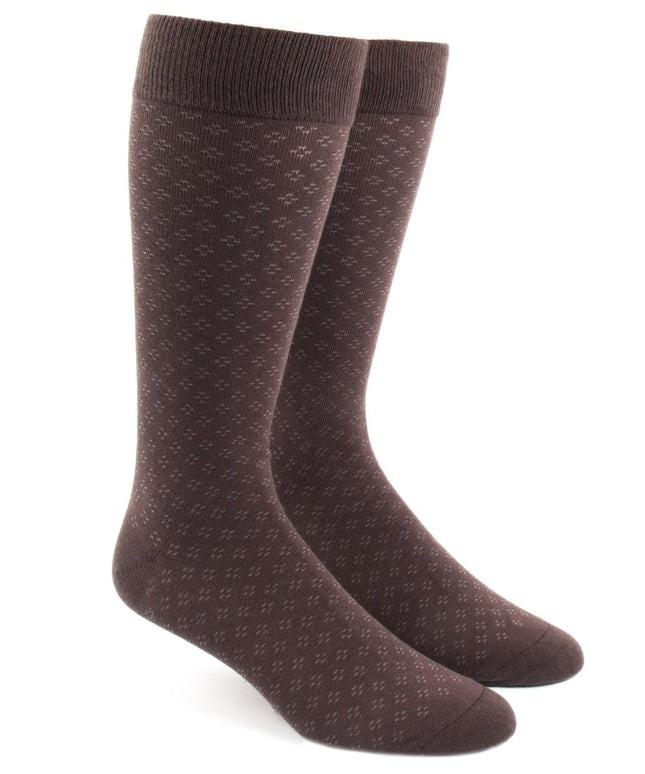 Speckled Brown Dress Socks