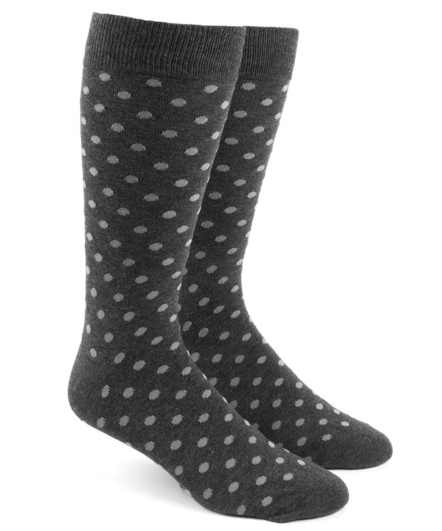 Circuit Dots Charcoal Dress Socks