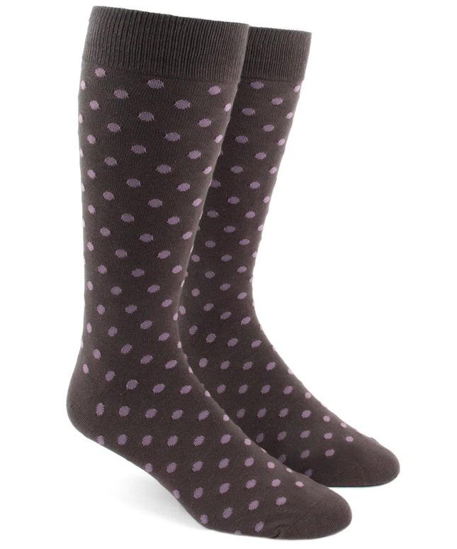 Circuit Dots Brown Dress Socks