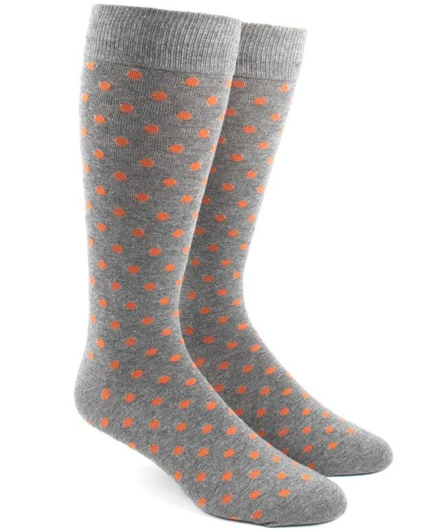 Circuit Dots Orange Dress Socks