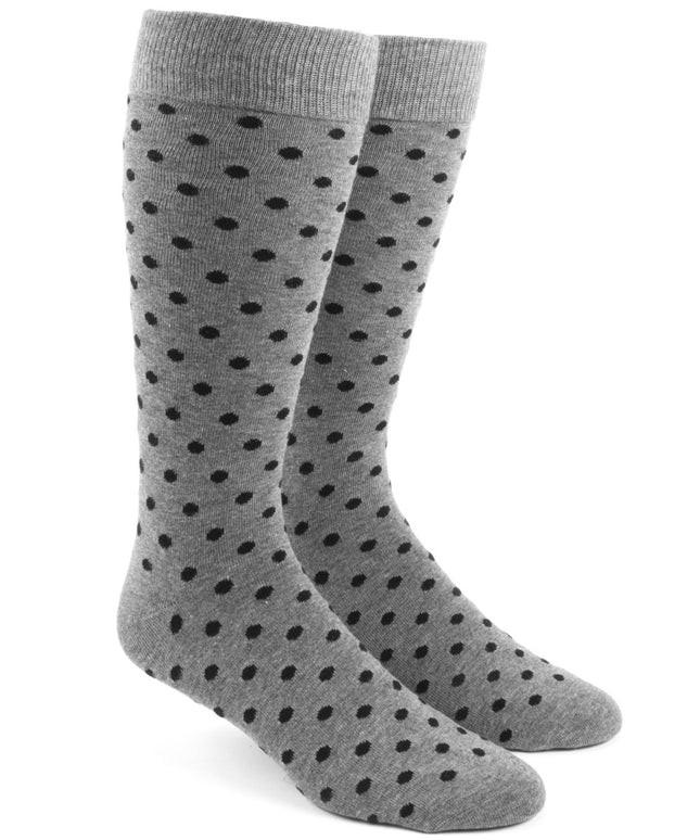 Circuit Dots Black Dress Socks