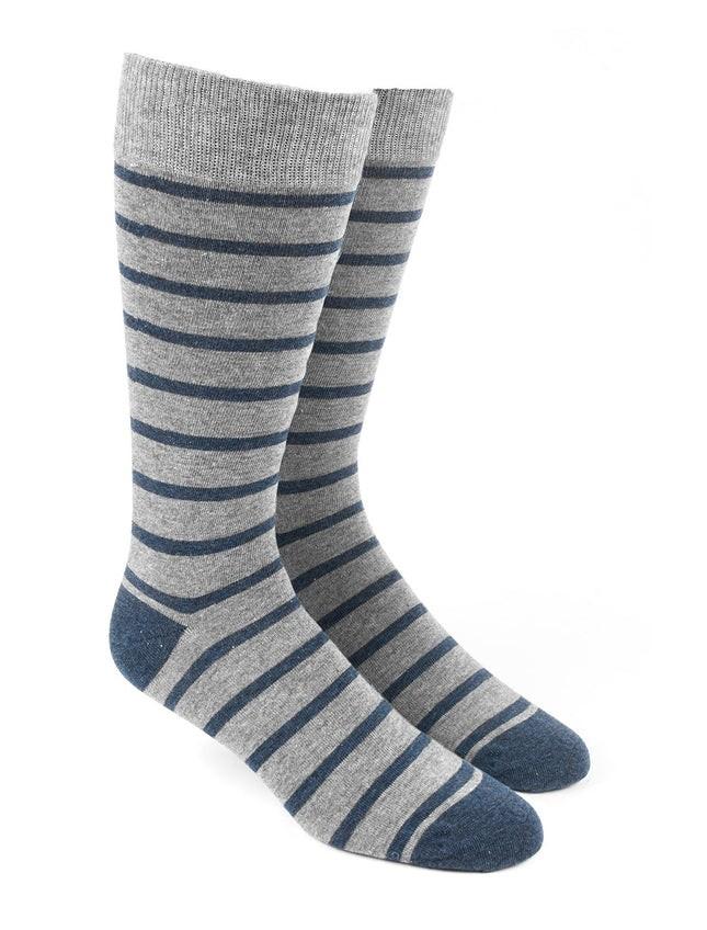 Trad Stripe Navy Dress Socks