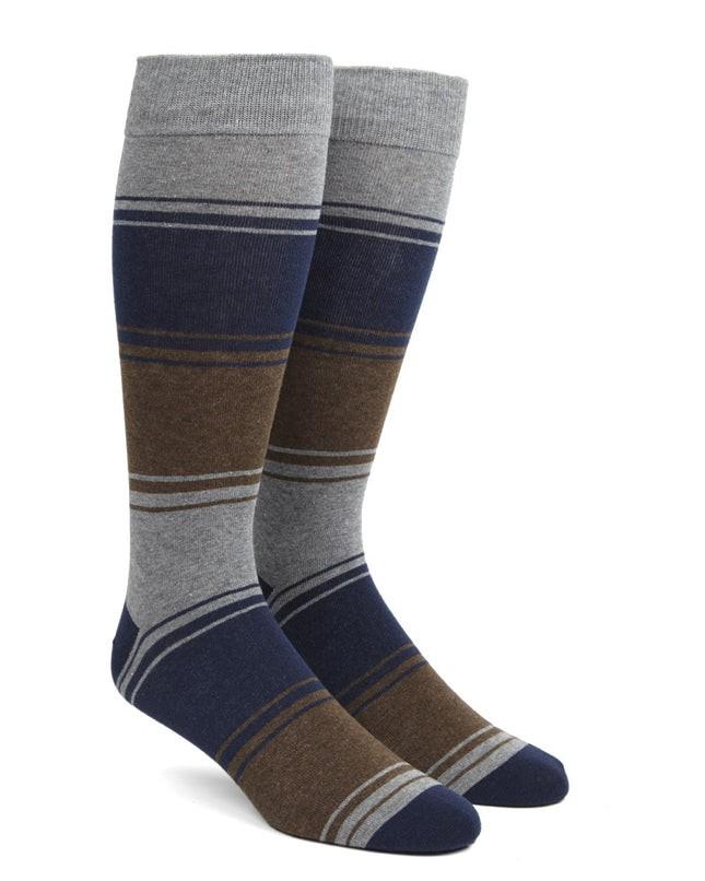 Alt Stripe Brown Dress Socks