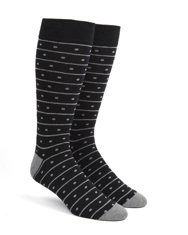 Ringside Dots Black Dress Socks