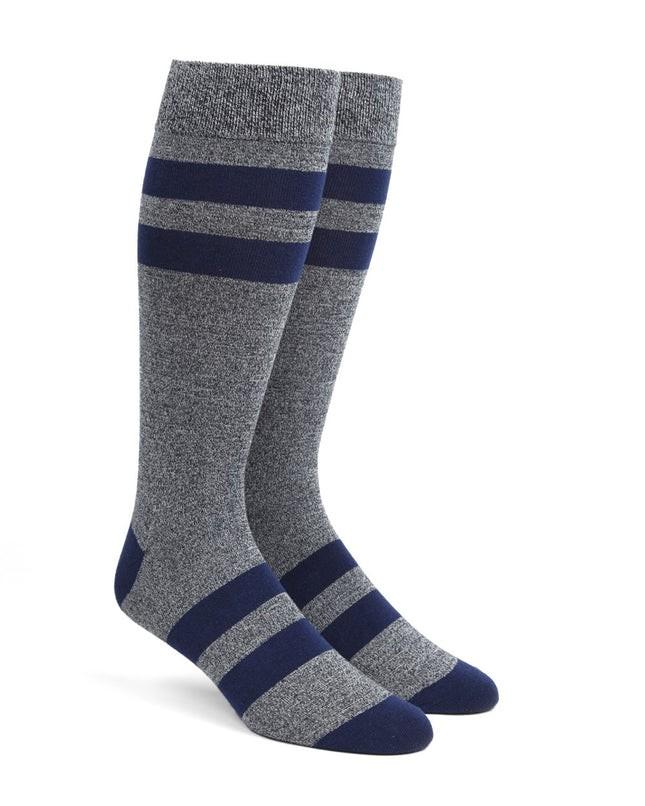 Varsity Stripe Navy Dress Socks