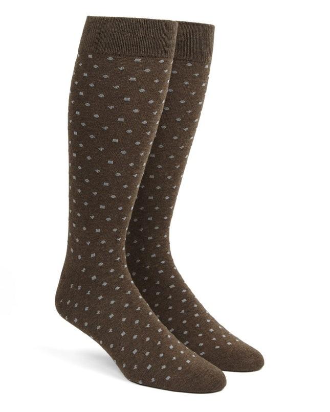 Confetti Brown Dress Socks