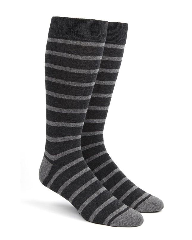 Trad Stripe Greys Dress Socks