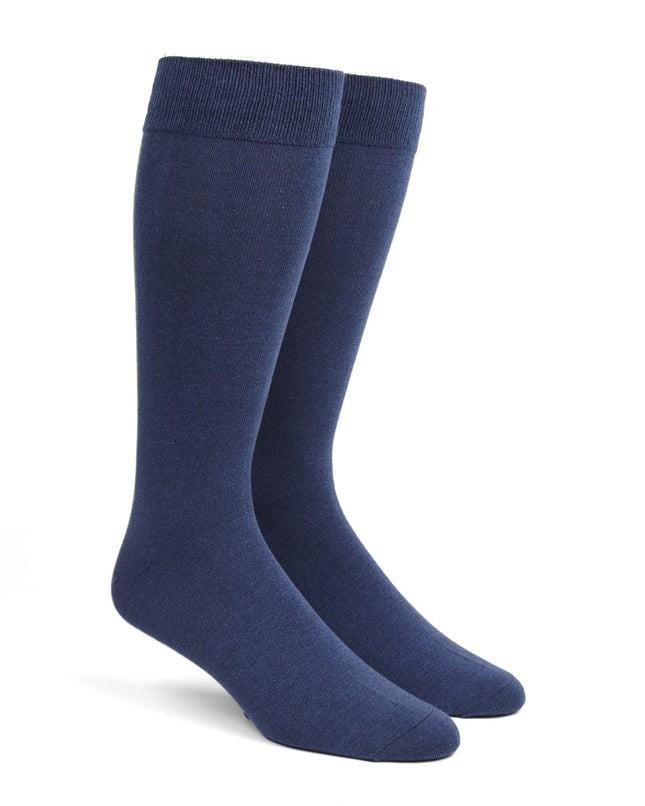 Solid Blues Dress Socks
