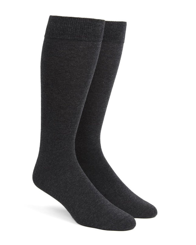 Solid Charcoal Dress Socks