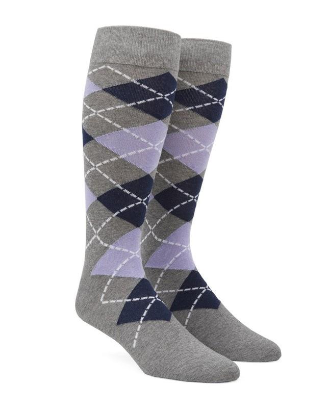 Argyle Lavender Dress Socks