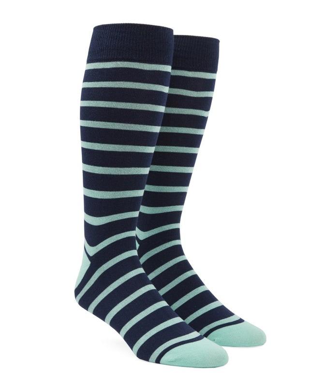 Trad Stripe Spearmint Dress Socks