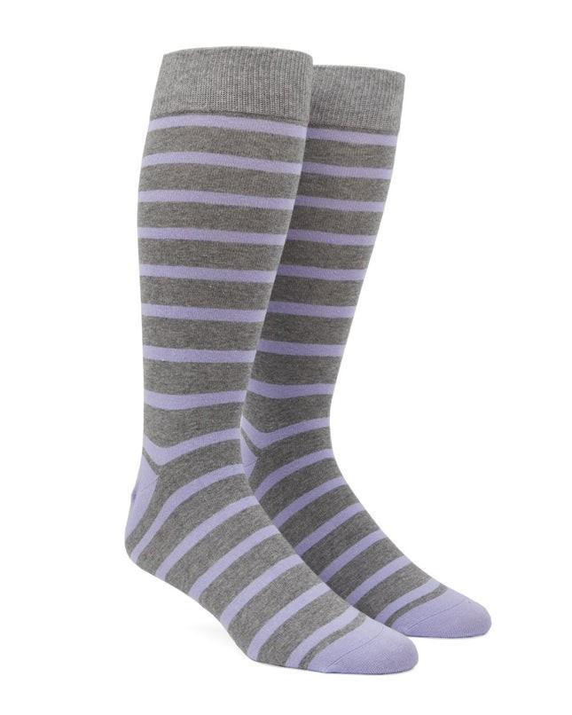 Trad Stripe Lavender Dress Socks