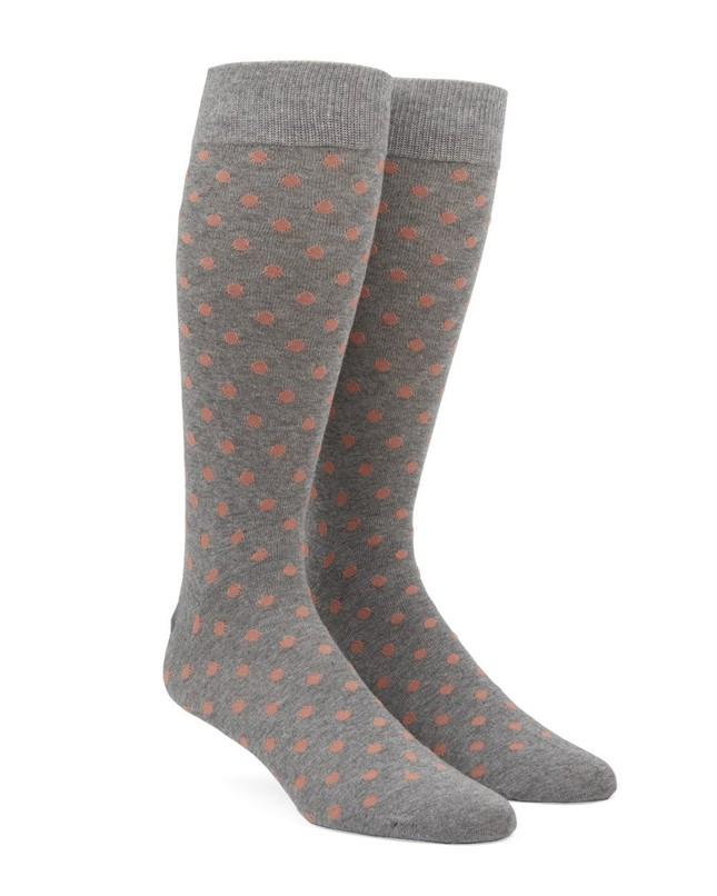Circuit Dots Peach Dress Socks