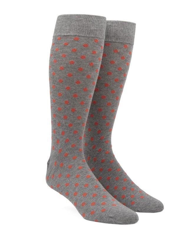 Circuit Dots Coral Dress Socks