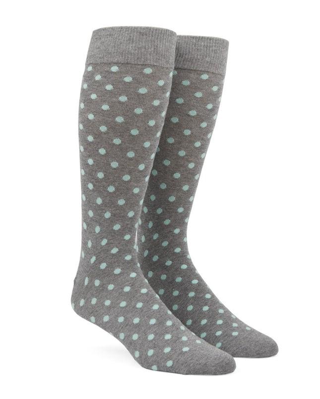 Circuit Dots Mint Dress Socks