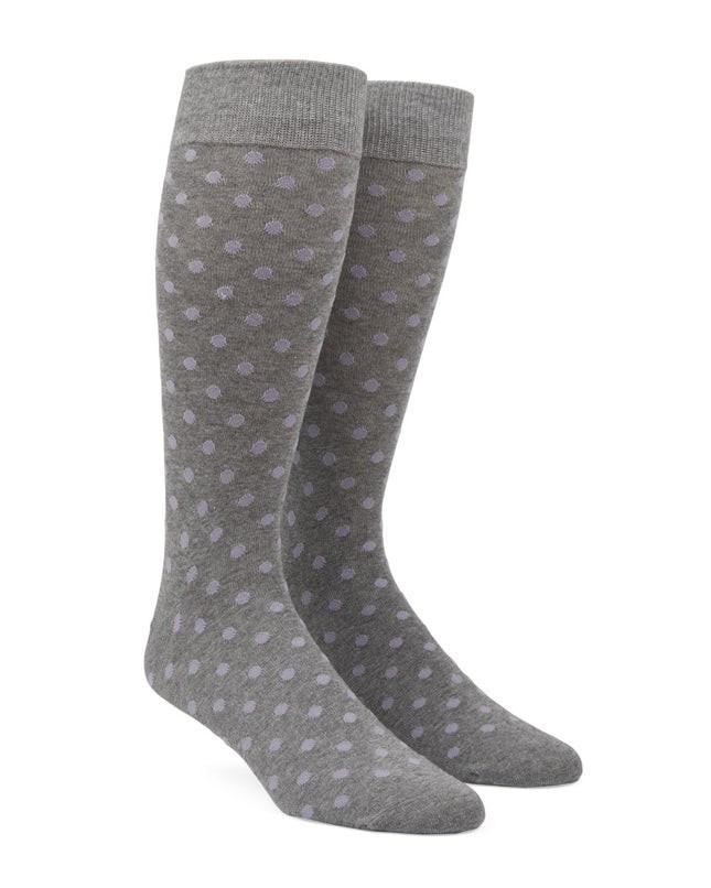 Circuit Dots Lavender Dress Socks