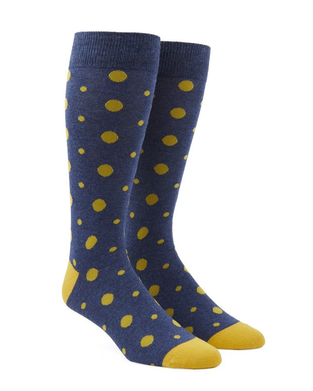 Alternating Dots Yellow Dress Socks