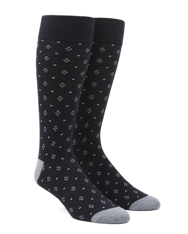 Geo Key Black Dress Socks
