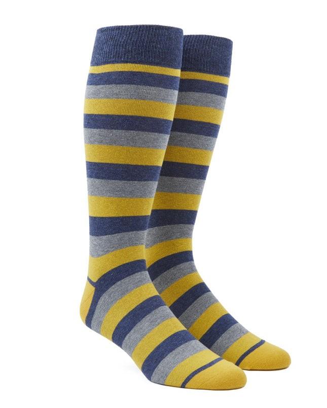 Varios Stripe Yellow Dress Socks