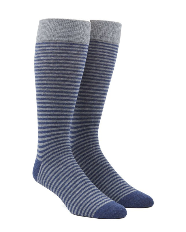 Thin Stripes Navy Dress Socks