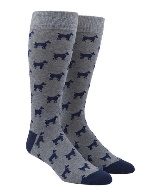 Dog Days Navy Dress Socks