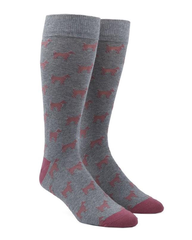 Dog Days Dusty Rose Dress Socks