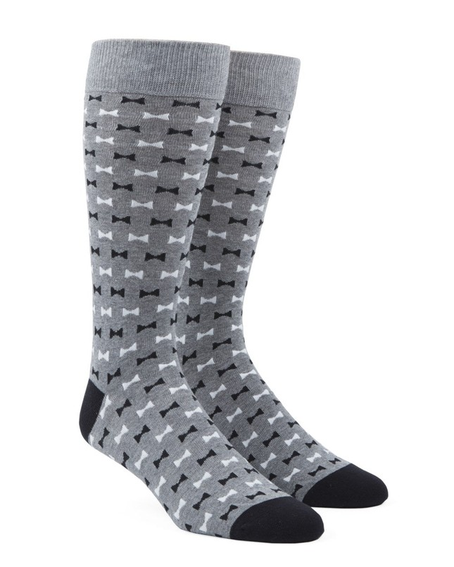 Bow Tie Black Dress Socks