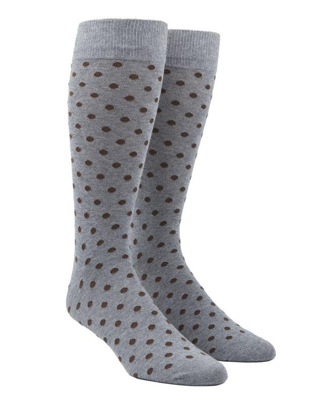 Circuit Dots Chocolate Brown Dress Socks