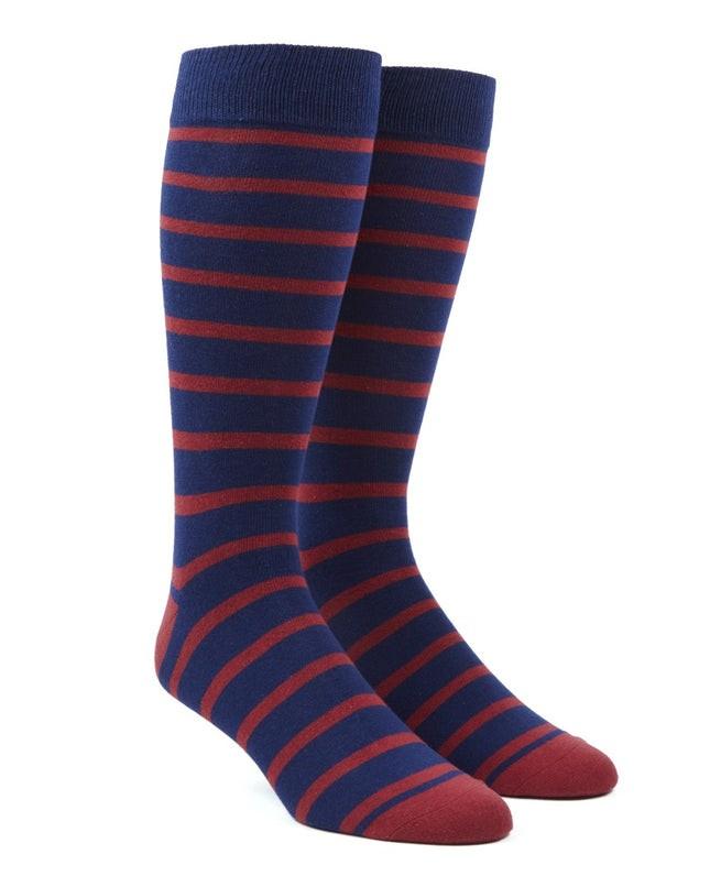 Trad Stripe Red Dress Socks
