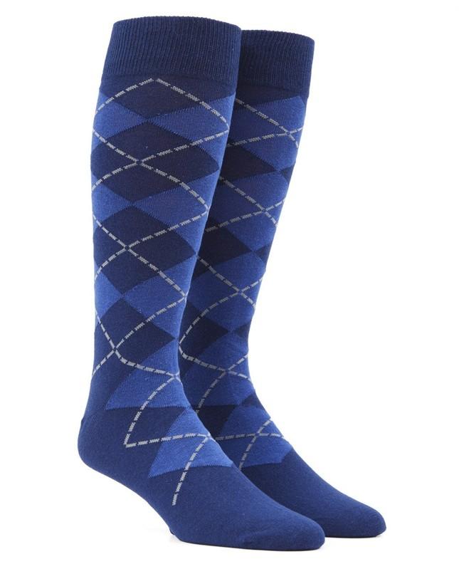 New Argyle Blue Dress Socks