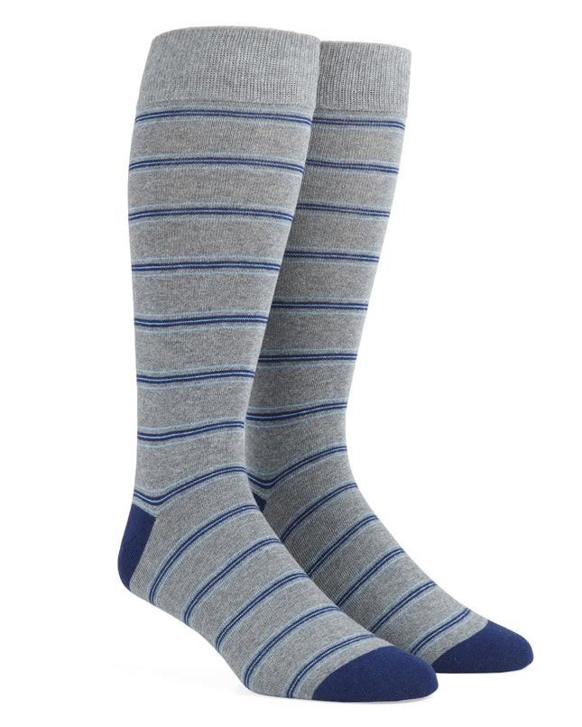 Rival Stripe Navy Dress Socks