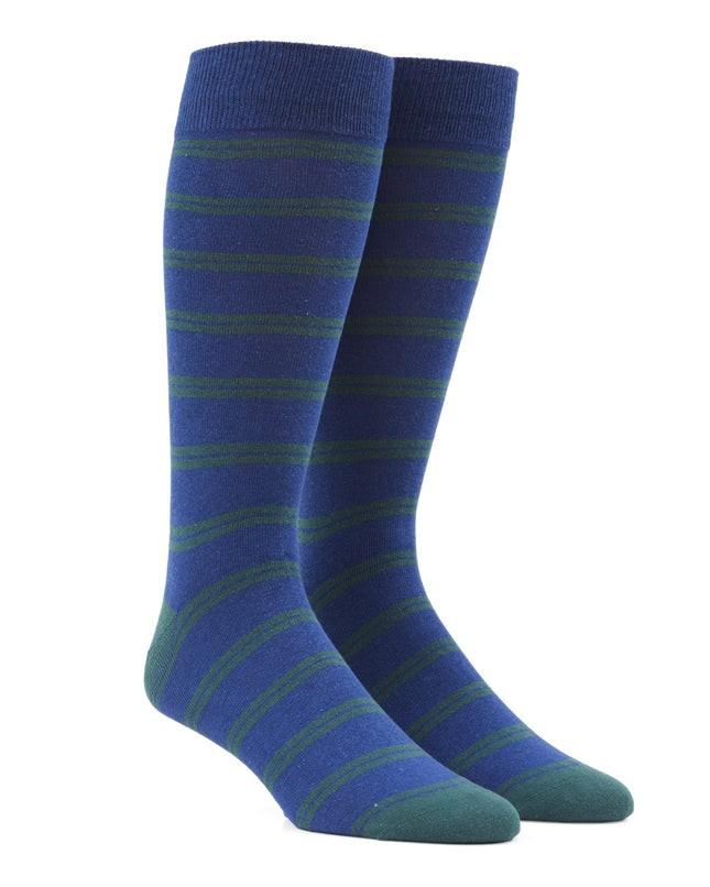 Center Field Stripe Hunter Green Dress Socks