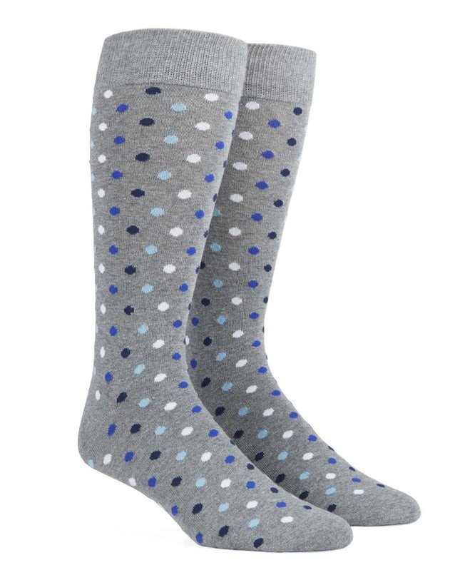 Spree Dots Royal Blue Dress Socks