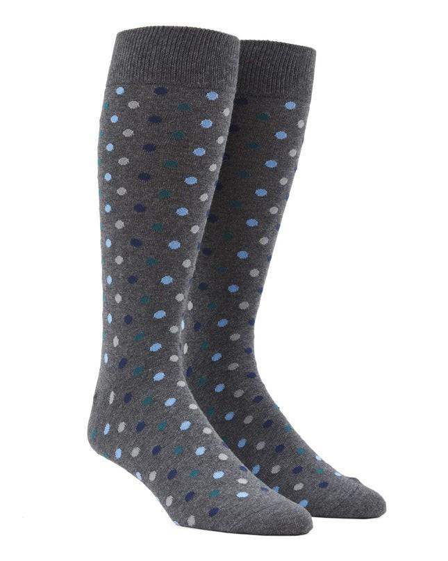 Spree Dots Hunter Green Dress Socks
