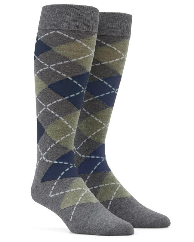 Argyle Sage Green Dress Socks