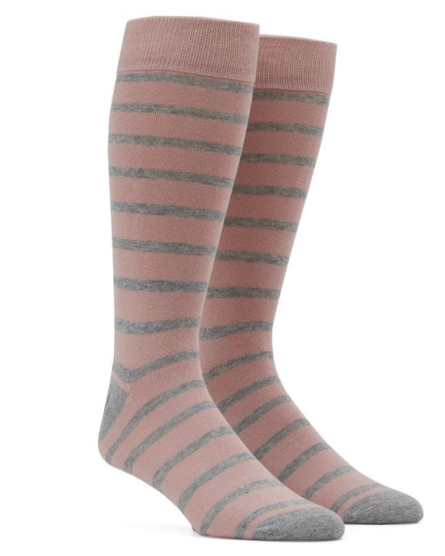 Trad Stripe Blush Dress Socks