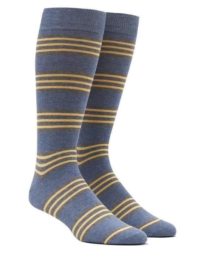 New Prep Stripe Blue Dress Socks