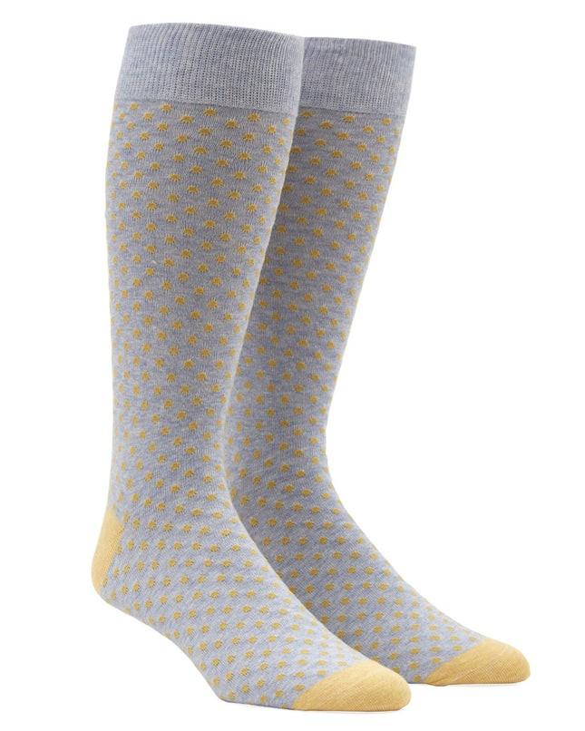 Pindot Yellow Dress Socks