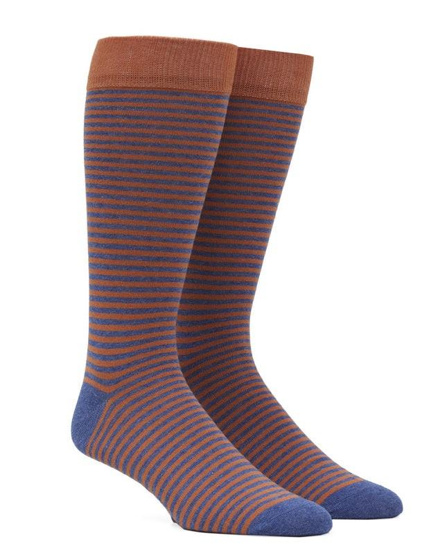 Thin Stripes Orange Dress Socks